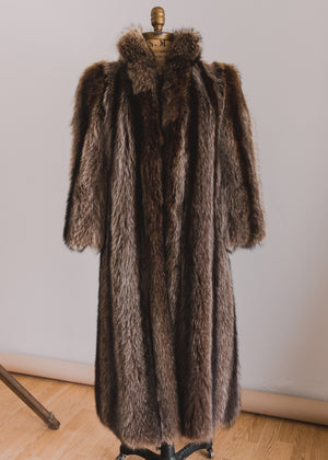 Load image into Gallery viewer, Floor Length Raccoon Fur Coat