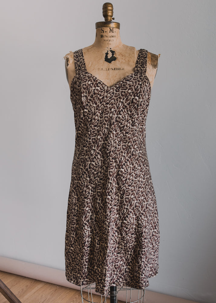 Load image into Gallery viewer, Silk Leopard Slip