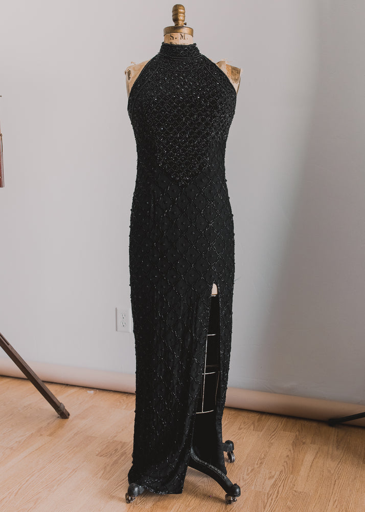 Beaded Full Length Dress