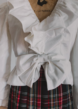 Load image into Gallery viewer, White Ruffled Blouse
