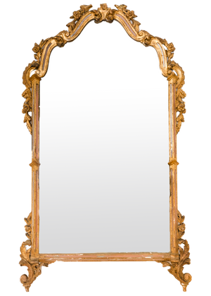 Italian Pink and Gold Mirror