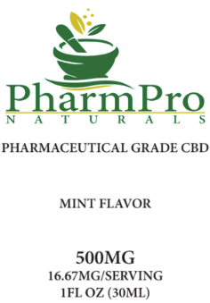 CBD Oil Tincture 500mg Mint Flavor