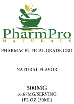 CBD Oil Tincture 500mg Natural Flavor