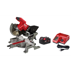 "Milwaukee M18 FUEL™ 7-1/4"" Dual Bevel Sliding Compound Miter Saw Kit 2734-81HD"