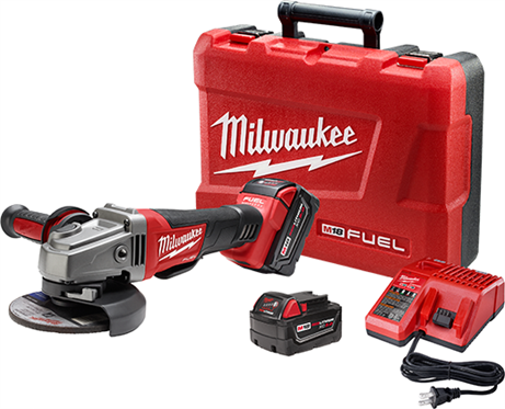 "Milwaukee M18 FUEL™ 4-1/2"" / 5"" Grinder, Paddle Switch No-Lock Kit 2780-82"