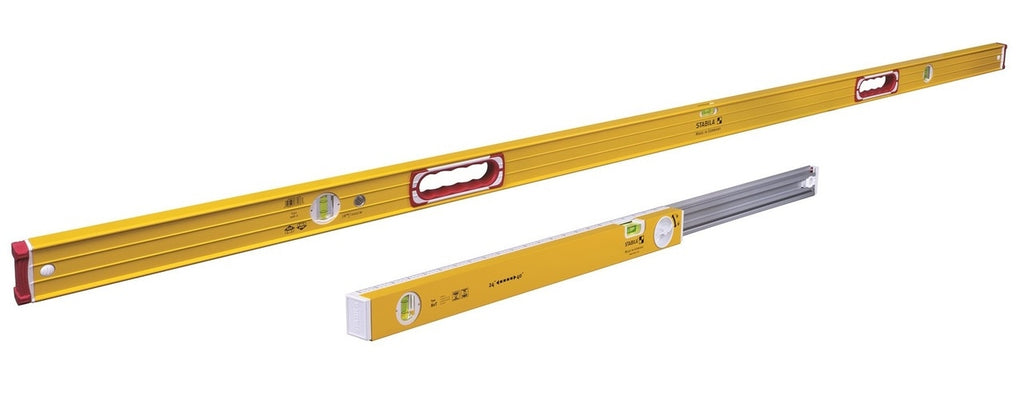 Stabila STAB-37540 Type 196 Jamber Set 78 inch level plus Type 80 T Extendable level (24in-40in)
