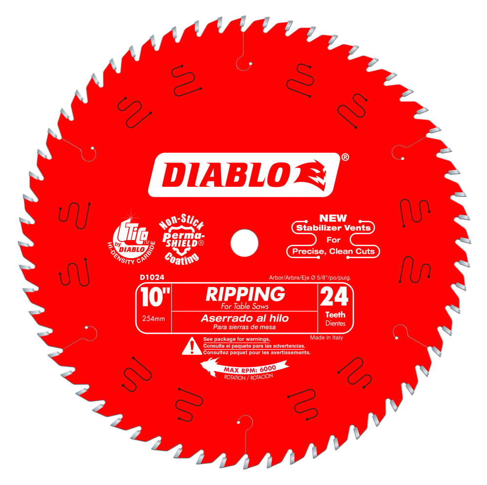 Diablo D1024X 10 in. x 24 Tooth Ripping Saw Blade