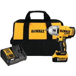 DeWalt 20V MAX* XR® HIGH TORQUE 1/2 in. cordless IMPACT WRENCH with DETENT PIN ANVIL KITDCF899M1