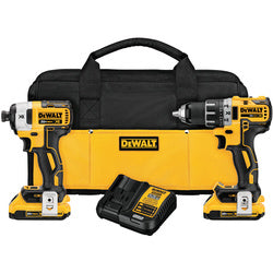 DeWalt 20V MAX* XR® Lithium Ion Brushless Compact Drill / Driver & Impact Driver Combo Kit DCK283D2