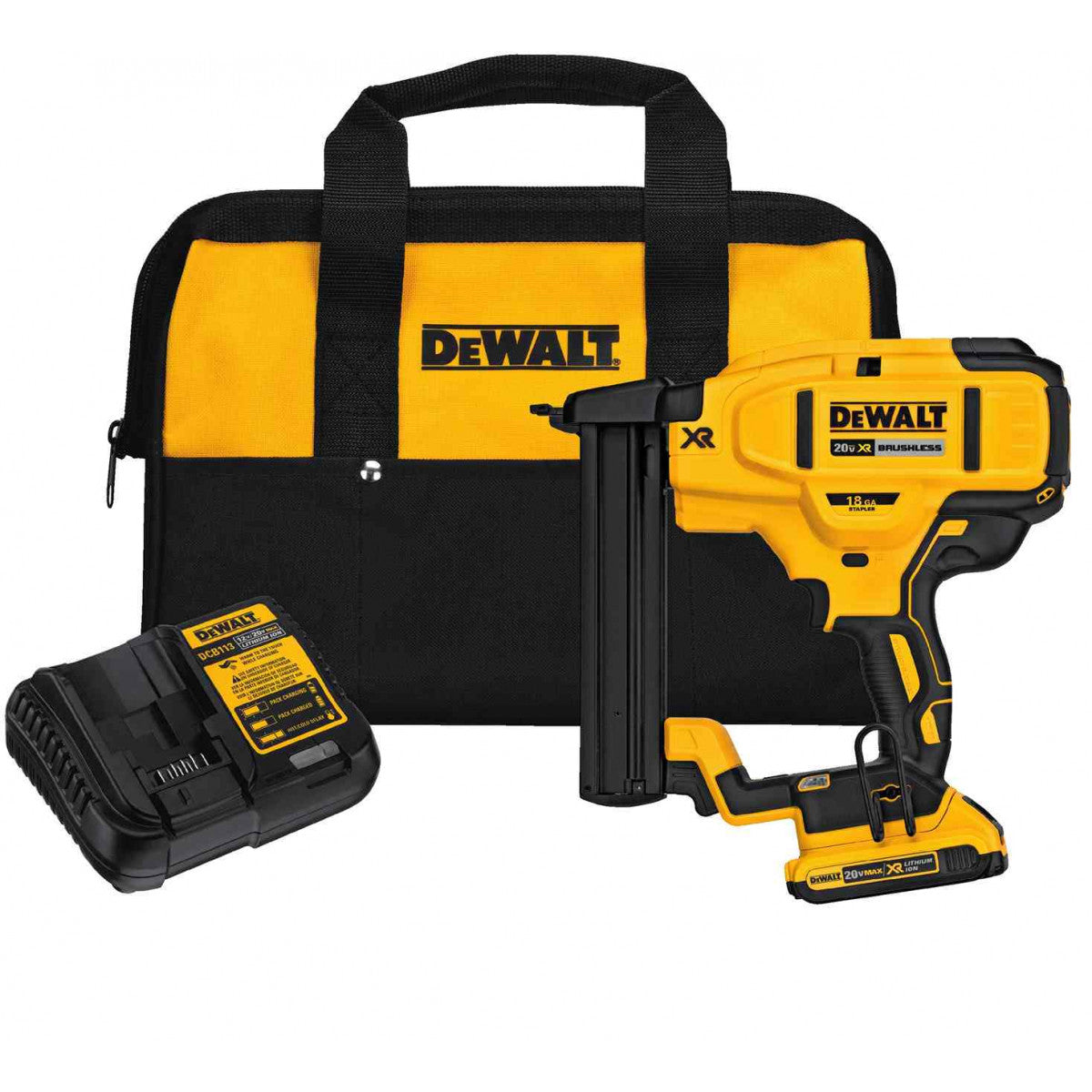 DEWALT 20V MAX* XR® 18 GA Cordless Narrow Crown Stapler Kit DCN681D1