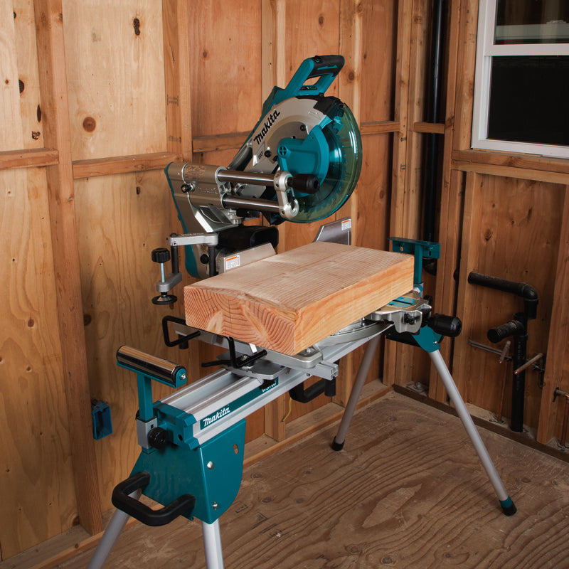 "Makita 10"" Cordless Sliding Compound Miter Saw with Brushless Motor & AWS +BONUS DC18RD Dual Charger + 2x 5ah Batteries Starter Kit (Y-00359) DLS111Z"