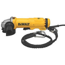 "Dewalt 4.5"" Small Angle Paddle Switch Angle Grinder with Brake and No-Lock On DWE4222N"