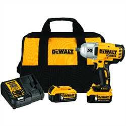 "Dewalt 20V MAX* XR® High Torque 1/2"" Impact Wrench w. Detent Pin Anvil Kit (5.0Ah) DCF897B"
