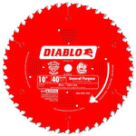 Diablo D1040X 10 in. x 40 Tooth General Purpose Saw Blade