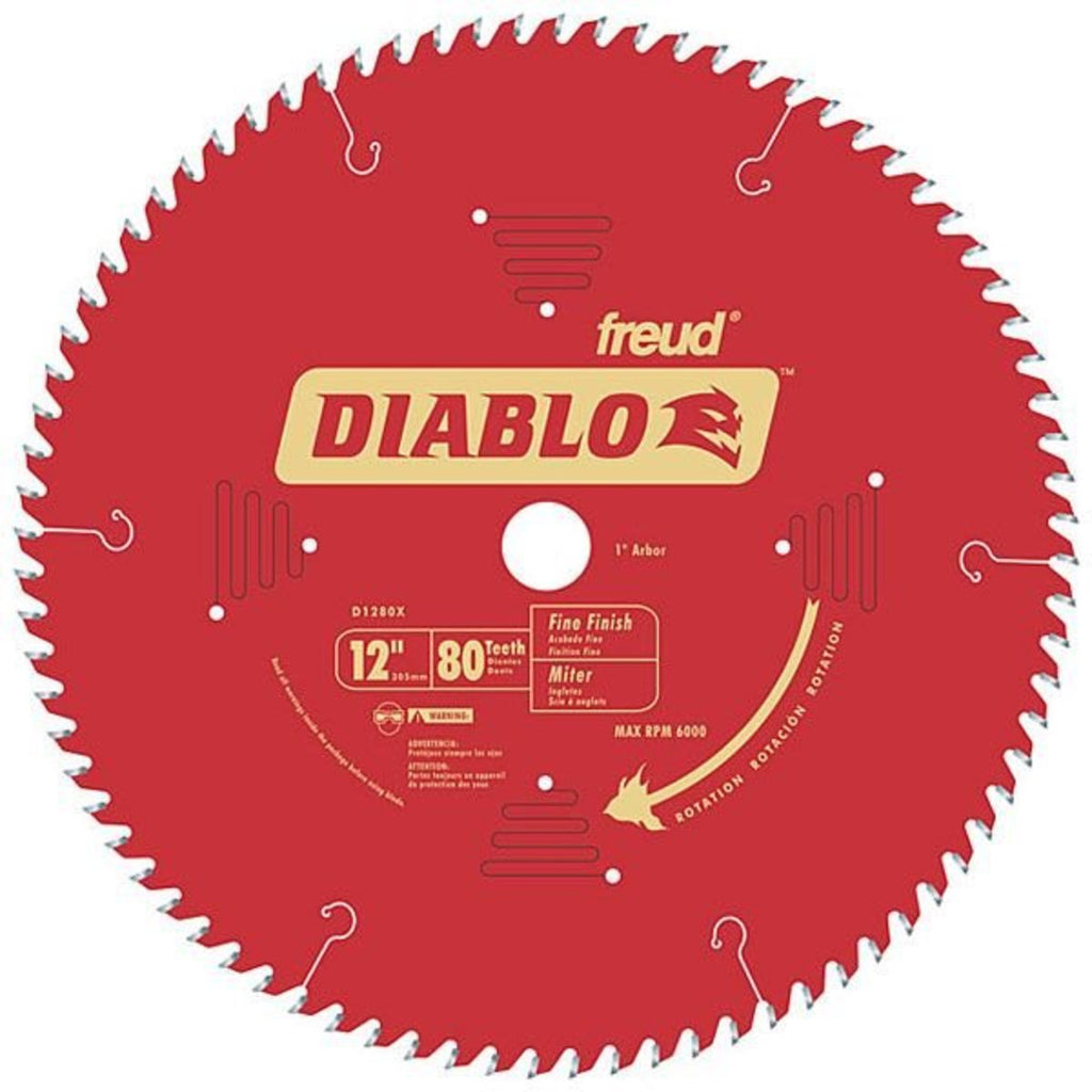 Diablo D1280X 12 in. x 80 Tooth Fine Finish Saw Blade
