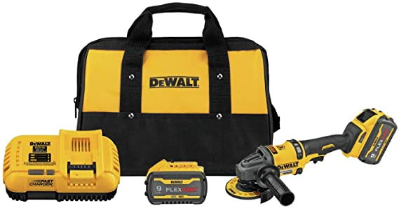 DeWalt FLEXVOLT® 60V MAX* Brushless 4-1/2 in. - 6 in. Cordless Grinder with Kickback Brake Kit DCG418X2