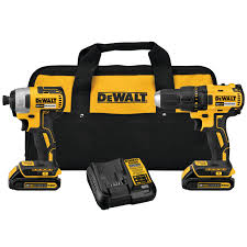 DeWalt 20V MAX* Compact Brushless Drill/Driver and Impact Kit DCK277C2