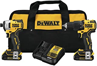 DeWalt ATOMIC 20V MAX* Brushless Cordless 1/2 in. Hammer Drill/Driver and 1/4 in. Impact Driver KIT DCK279C2