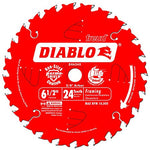 Diablo D0624 6-1/2 in. x 24 Tooth Framing Saw Blade