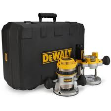 Dewalt 2-1/4 HP  EVS Fixed Base / Plunge Router Combo Kit w/ Soft Start DW618PK