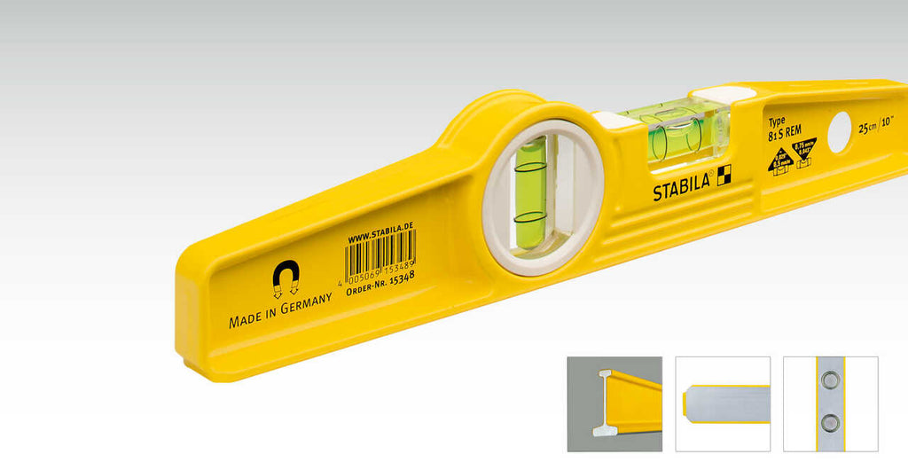 "Stabila TYPE 81 SM 10"" DIE CAST MAGNETIC TORPEDO LEVEL 25100"