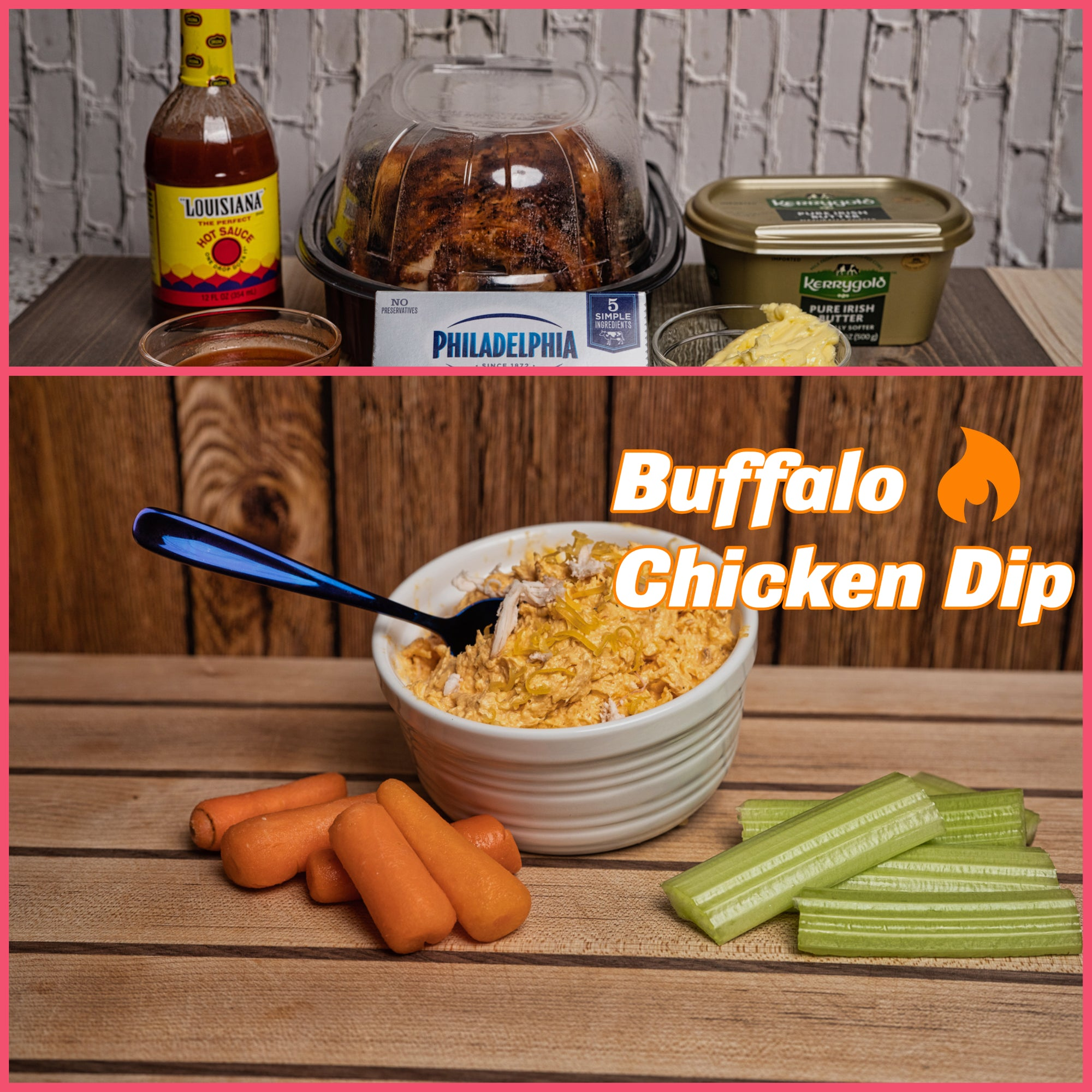 Easy and tasty buffalo chicken dip!