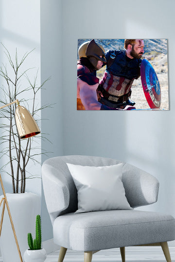 Captain America and Wolverine Cosplay Print