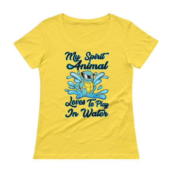 My Spirit Animal Loves to Play with Water - Ladies swoop neck