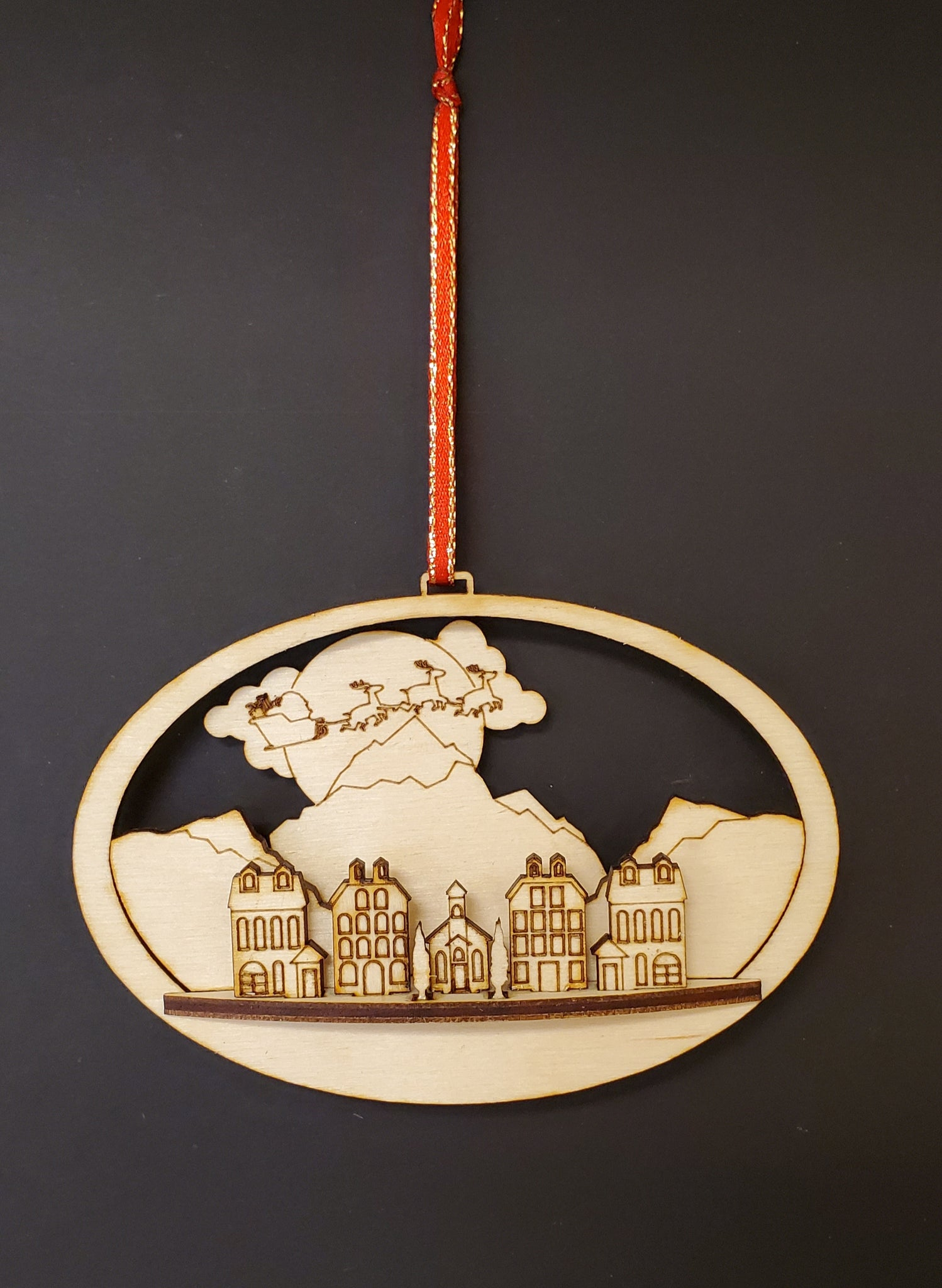 Santa's Flight 3D Ornament