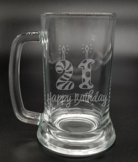 21st Birthday | Etched Glass