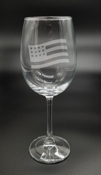 American Flag - Etched Glass