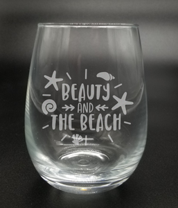 Beauty and the Beach - Etched Glass
