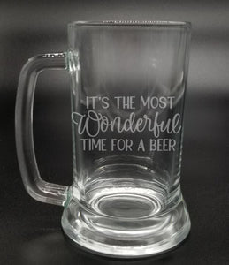It's the Most Wonderful Time for a Beer - Etched Glass