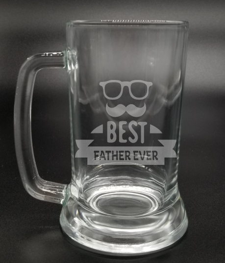 Best Father Ever - Etched Glass