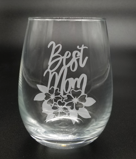 Best Mom (Floral) - Etched Glass