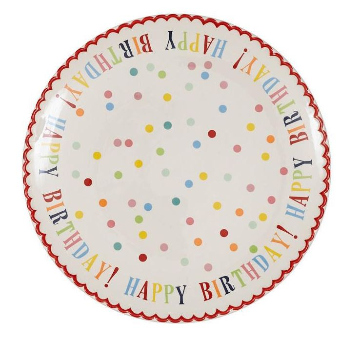 Large Happy Birthday! Plate