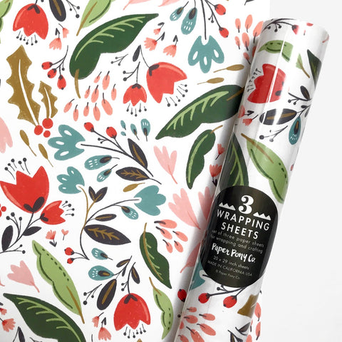Blomstra Floral Gift Wrap | 3 Sheets