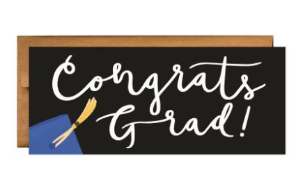 Blue Grad Greeting Card