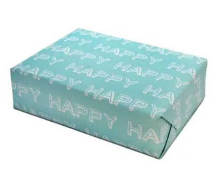 Happy Typographical Gift Wrapping Paper (3 Sheets)