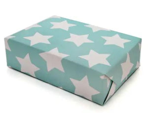 Roll of Star Gift Wrap in Carnival Blue (3 Sheets)