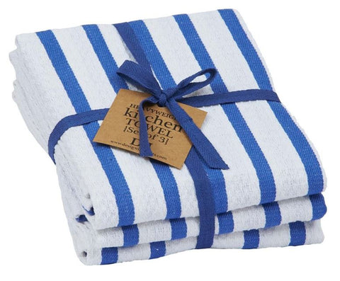 Blueberry Stripe Heavyweight Dishtowel - Set of 3