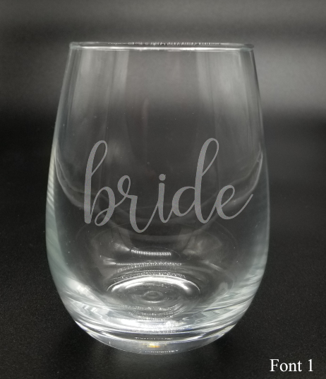 Bride - Etched Glass