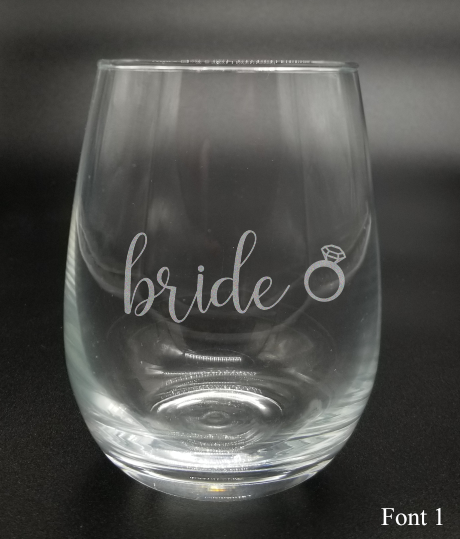 Bride with Diamond - Etched Glass