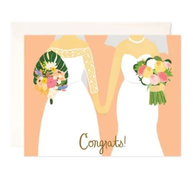 Brides Congrats Greeting Card