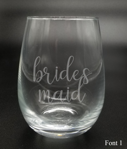 Bridesmaid - Etched Glass