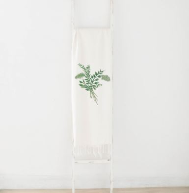 Eucalyptus Bunch Watercolor Lightweight Throw Blanket