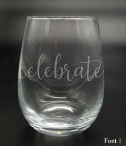 Celebrate - Etched Glass