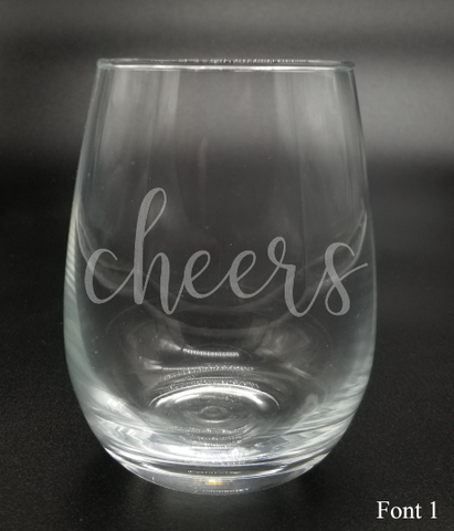 Cheers - Etched Glass