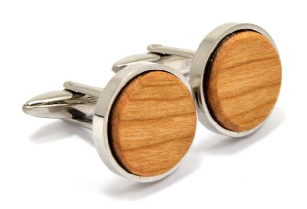 Wood Cufflinks | Cherry