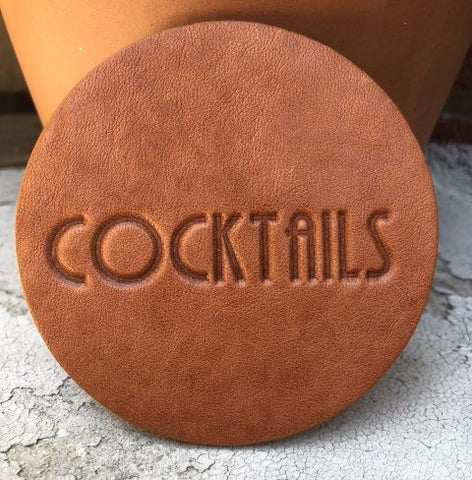 Cocktails Leather Assorted Coaster